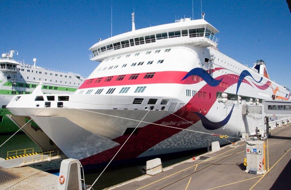 Tallinki laev Baltic Queen sadamas