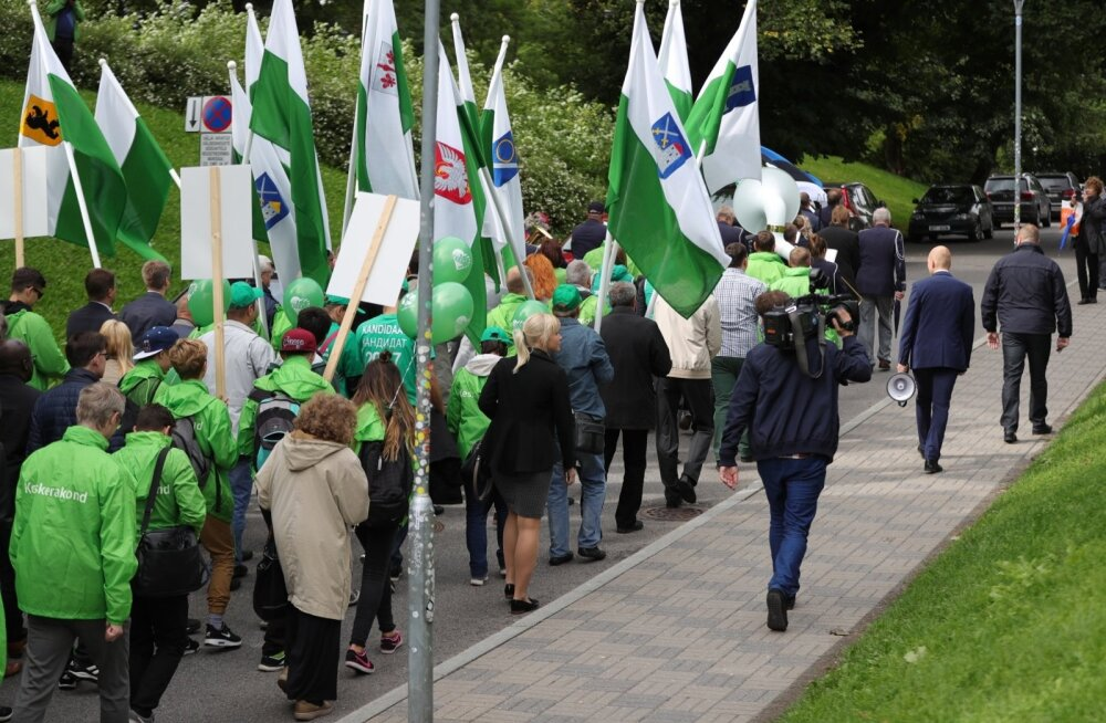 Шествие центристов 3 сентября в Таллинне