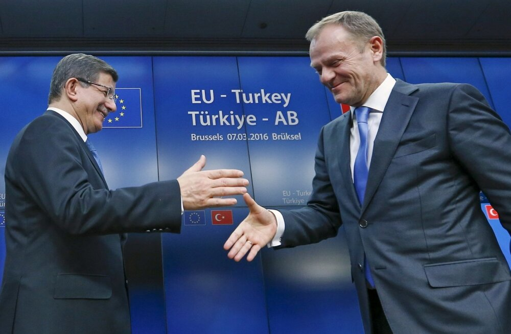 EL jõudis Türgiga põhimõttelisele kokkuleppele sisserändajate tagasivõtmise kohta