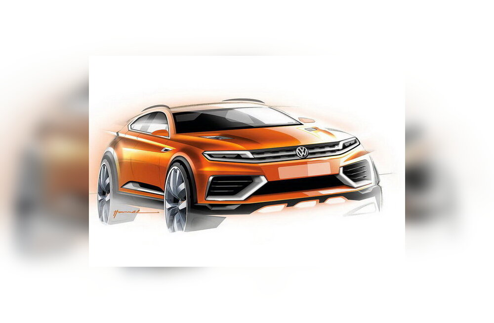 Volkswagen näitab Shanghais kontsepti CrossBlue Coupe