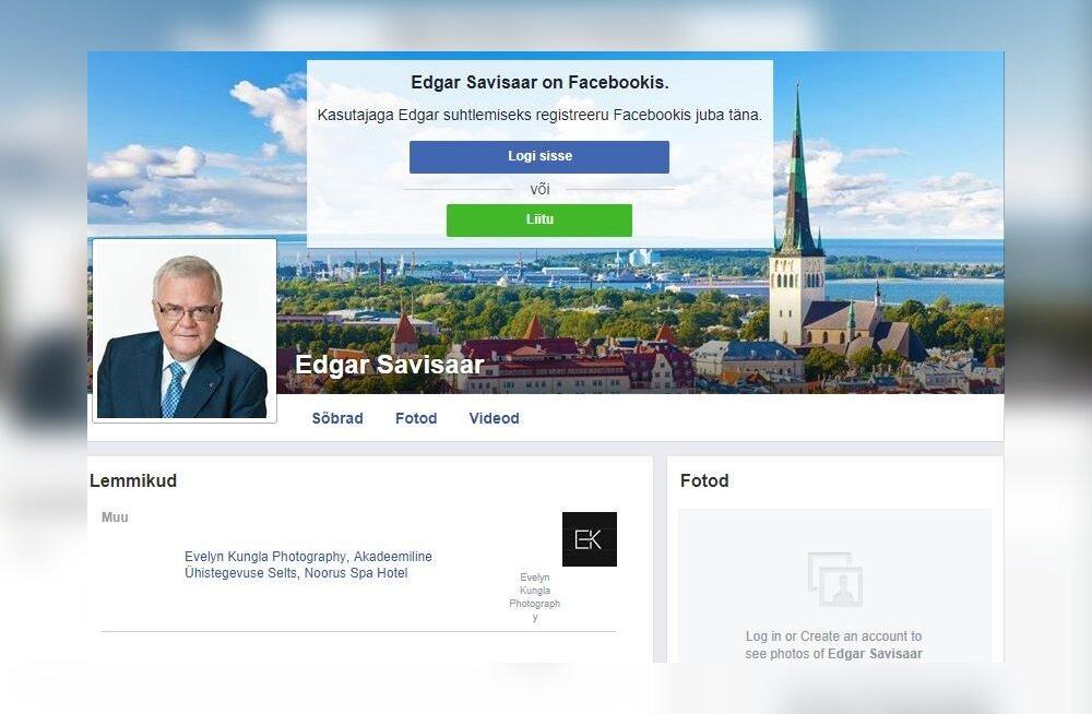 Väljapressija jäi pika ninaga: Savisaarel on Facebookis uus konto