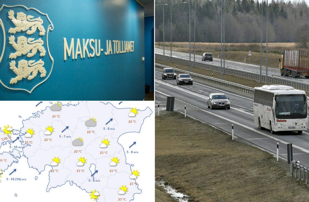 HOMMIKU-UUDISED: Täna suletakse Vaidas Tartu-Tallinna sõidusuund, maksu- ja tolliamet hakkab senisest hoolikamalt kontrollima Lätist tulevaid autosid