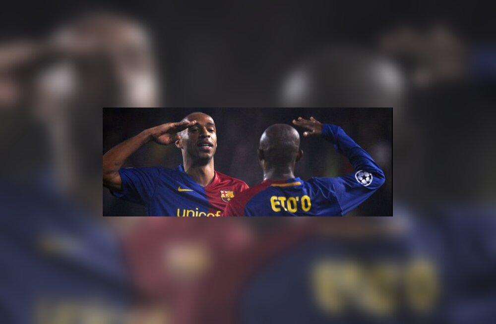 Thierry Henry ja Samuel Eto´o (Barcelona)