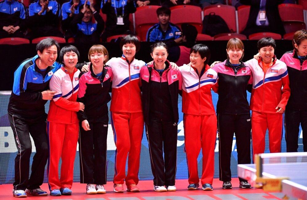Lõuna- ja Põhja-Korea moodustasid poole turniiri pealt ühendnaiskonna.