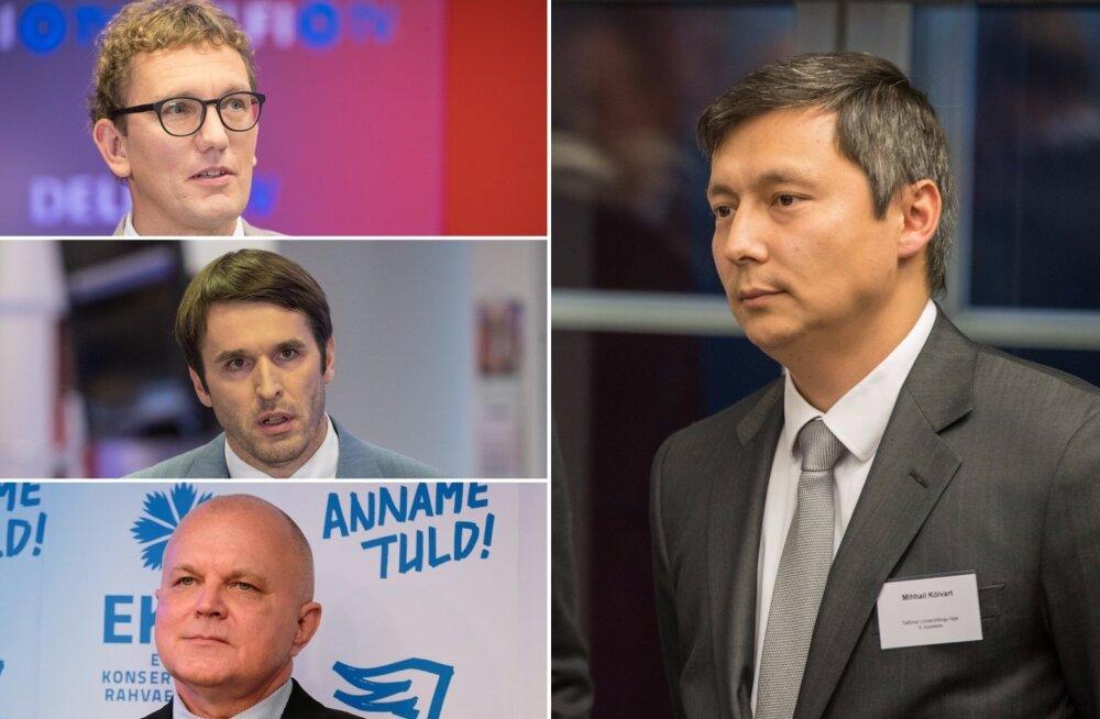 Kristen Michal, Rainer Vakra, Urmas Reitelmann ja Mihhail Kõlvart
