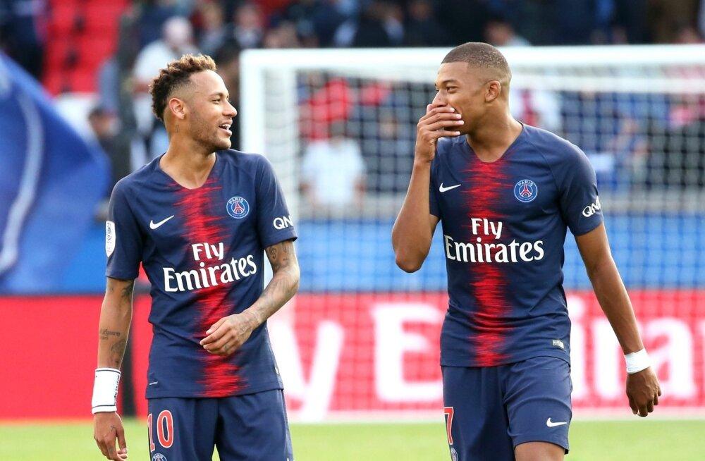 Neymar ja Kylian Mbappe.