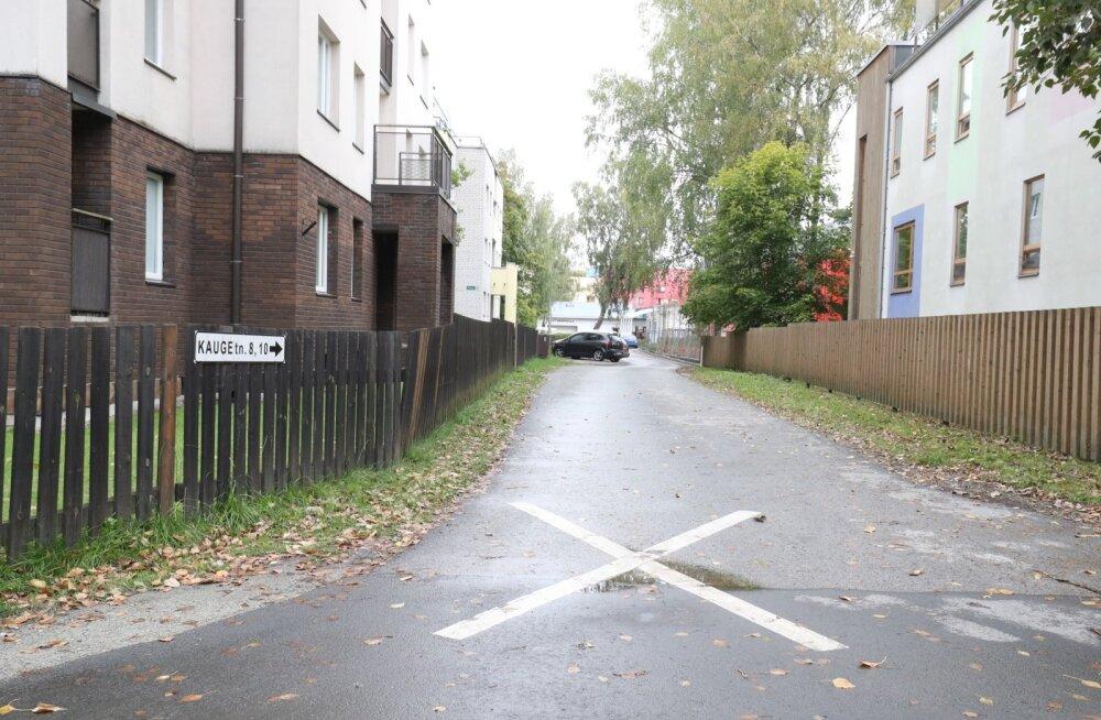 Tallinna Kauge tänava piirkond on hädas vihmaga kaasnevate uputustega