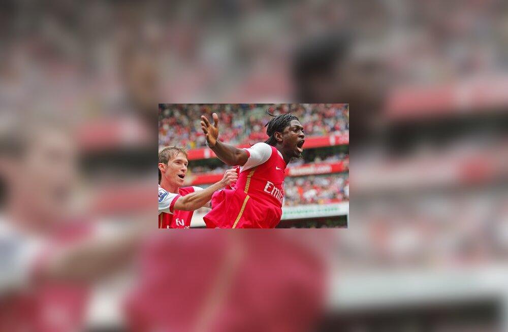 Emmanuel Adebayor  on löönud Arsenali eest värava