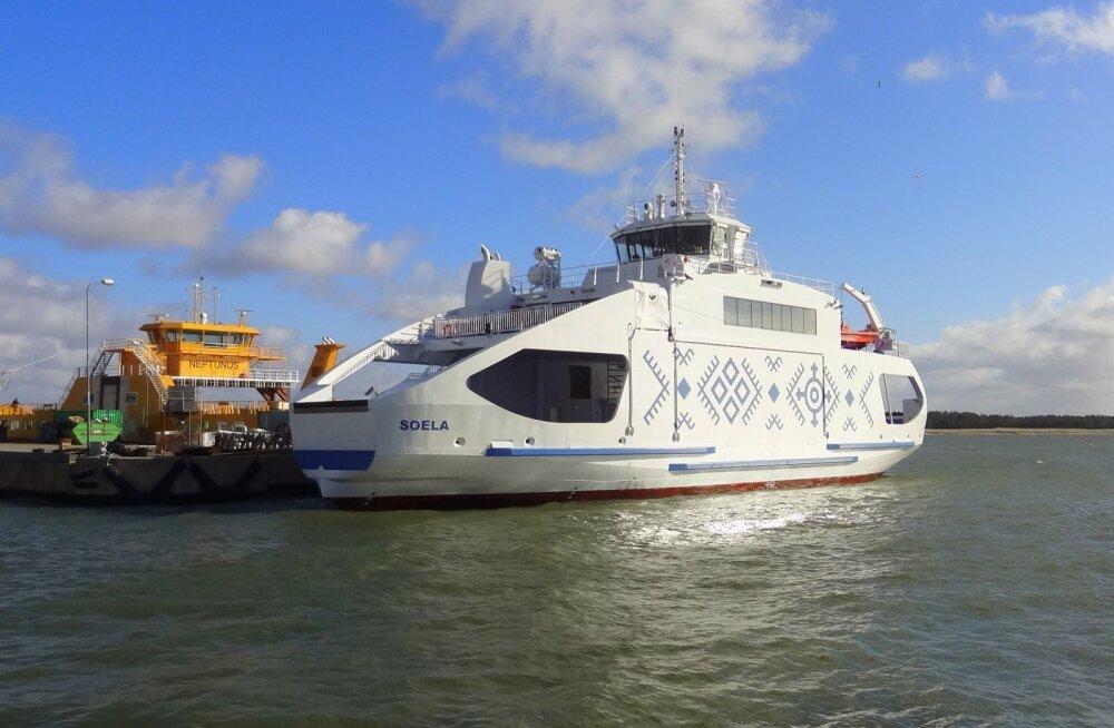 Saare- ja Hiiumaa vahel sõitma hakkav parvlaev Soela