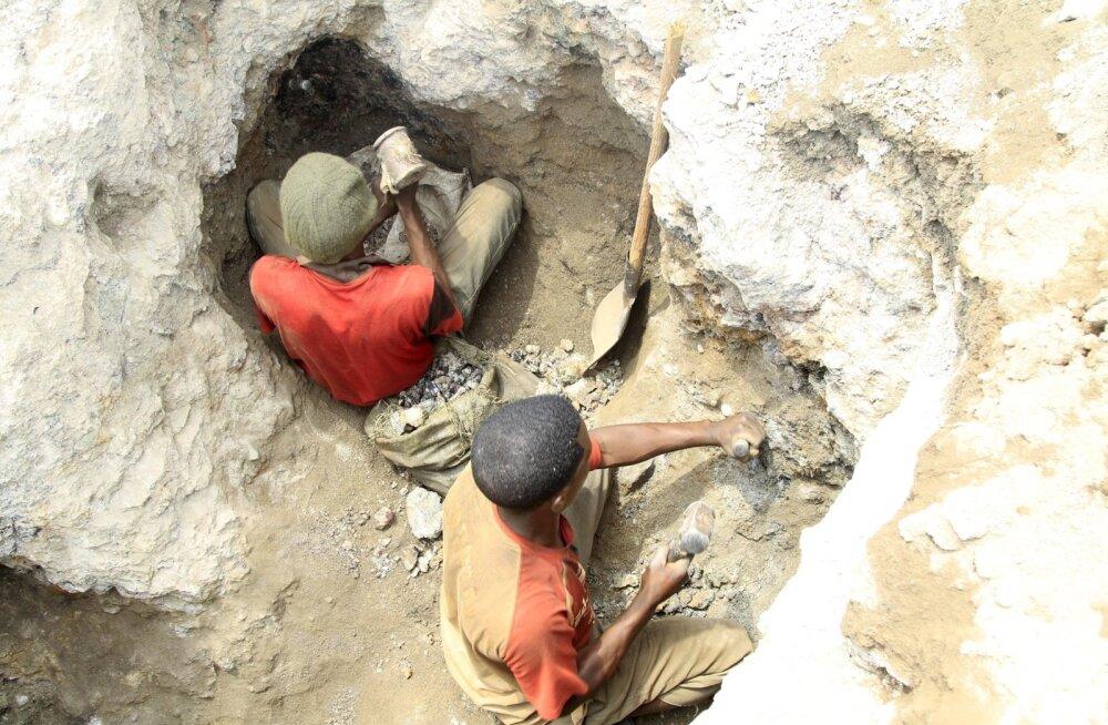 Koobalti kaevandamine Kongo Demokraatlikus Vabariigis.