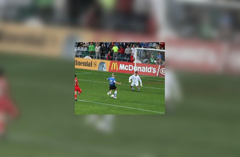Tarmo Kink on pääsenud üks-ühele Andorra  väravavahiga