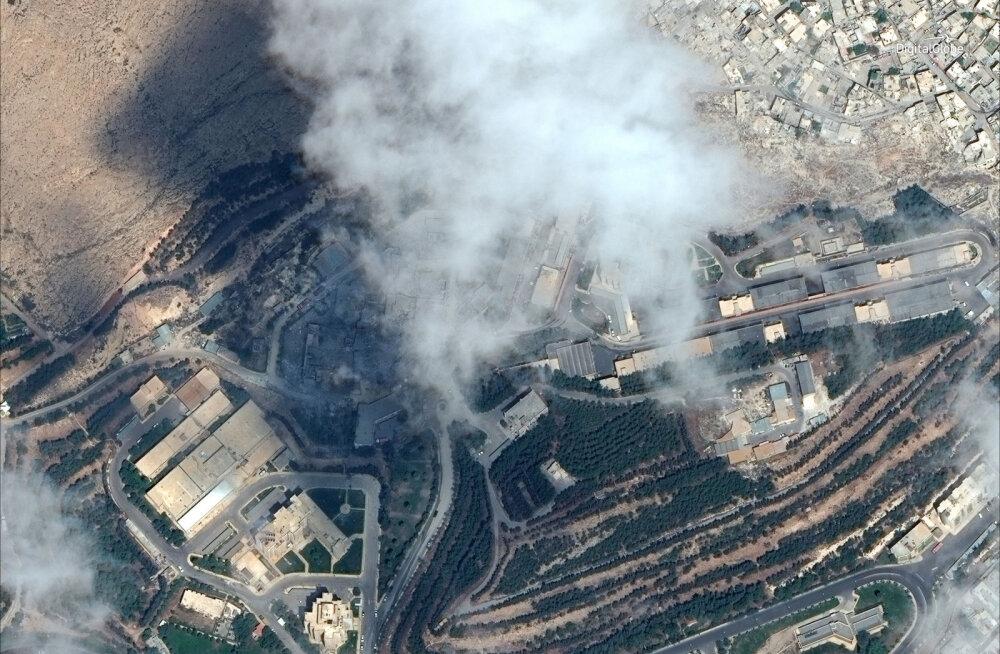 FOTOD RÜNNAKUPAIKADEST | USA hoiatas Süüriat uute rünnakute eest: meie relvad on laetud ja valmis