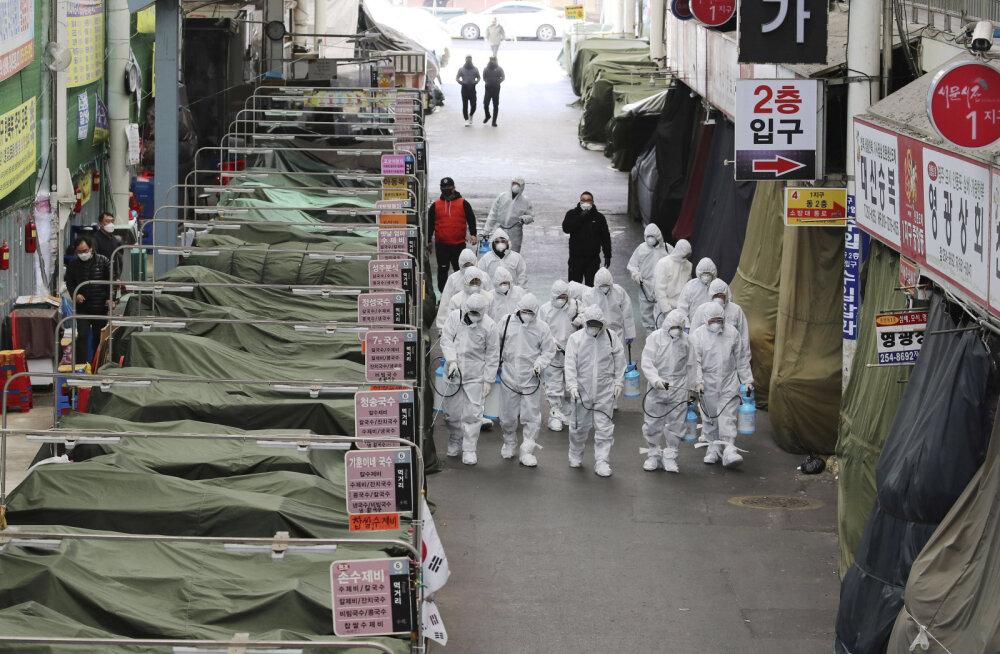 Uue koroonaviiruse plahvatuslik levik Lõuna-Koreas sunnib valitsust võtma ette jõulisi samme