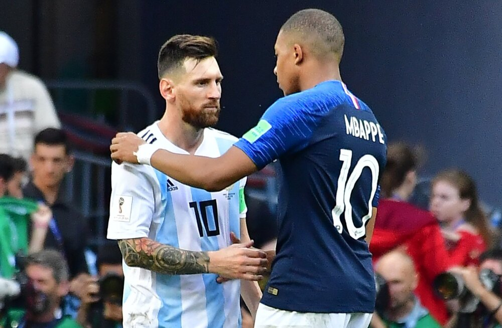 Kahe põlvkonna duellis jäid peale Kylian Mbappé (paremal) ja Prantsusmaa.