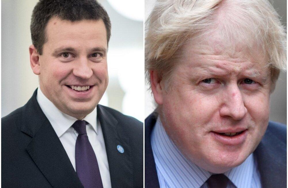 Jüri Ratas ja Boris Johnson