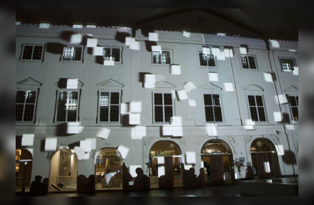 FOTOD: Narva kolledži uus hoone avati kauni valgusmänguga