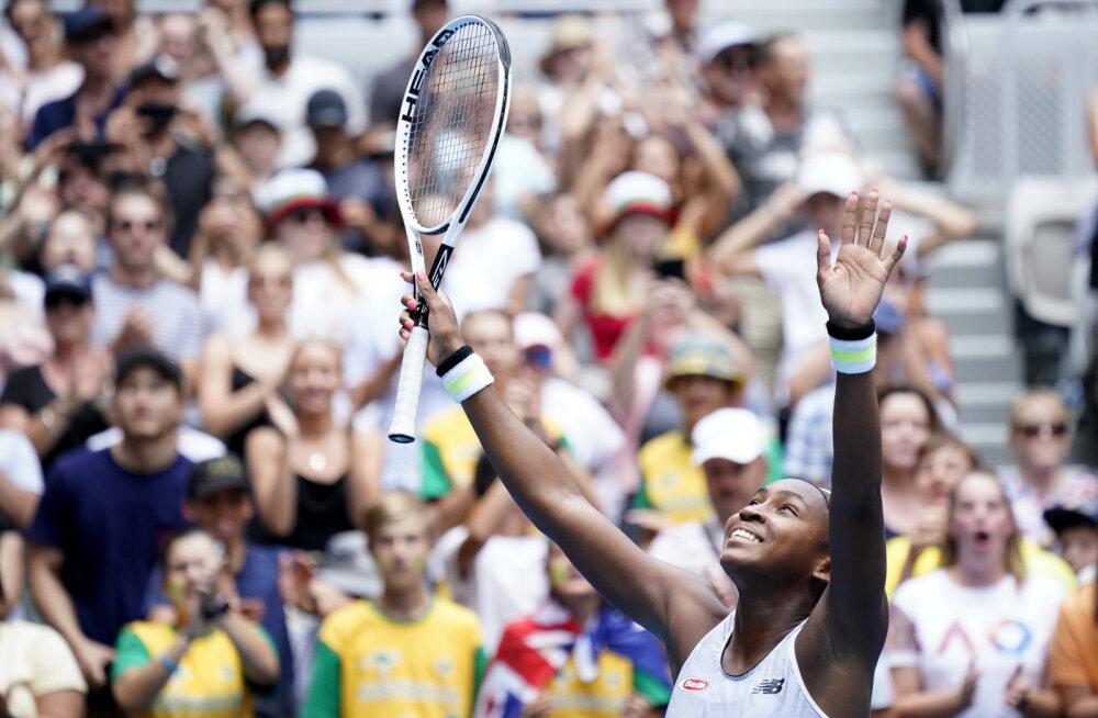 15-aastane ameeriklanna hullutab taas tennisemaailma, ees ootab kohtumine tiitlikaitsjaga