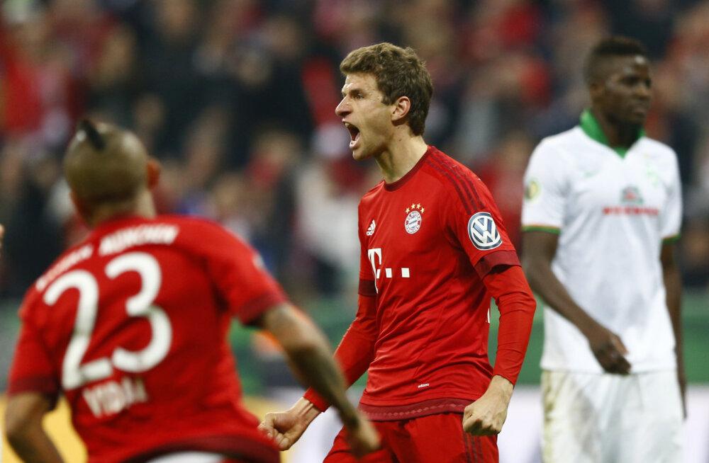 Thomas Mülleri väravad viisid Bayerni kindlalt finaali