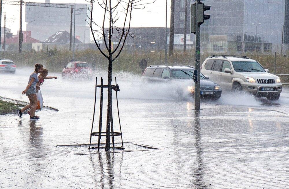 Vihm jõudis Tallinna