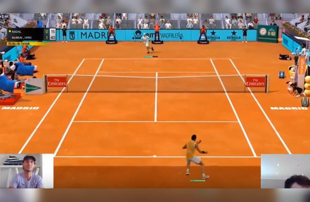 VIDEO   Andy Murray purustas virtuaalsel Madrid Openil Rafael Nadali