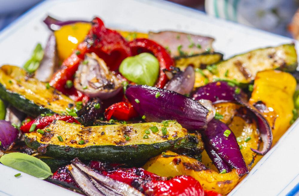 RETSEPT | Roheline ja tervislik: kiirmarineeritud grillitud köögiviljad