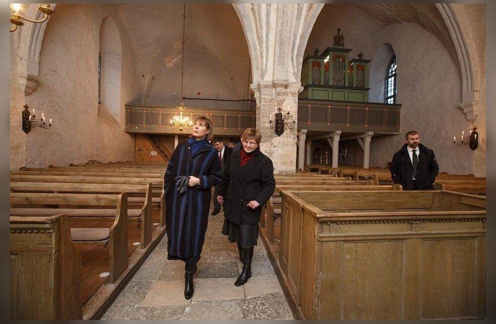 Kersti Kaljulaid Risti kirikus