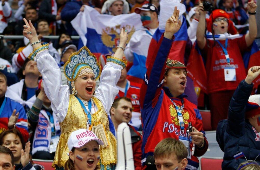 Jäähoki veerandfinaal Soome - Venemaa
