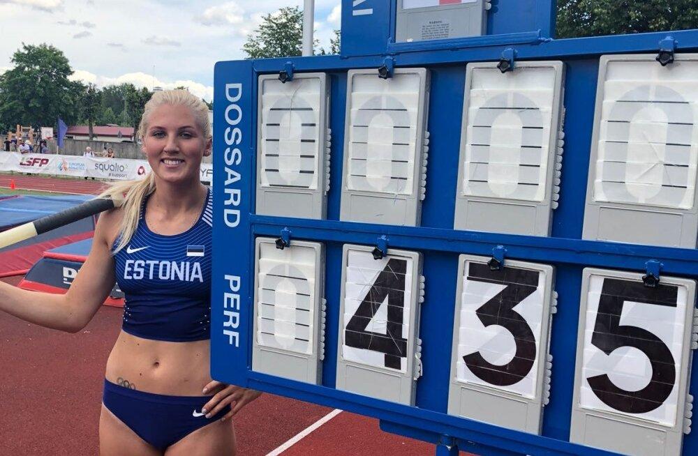 Reena Koll püstitas teivashüppes uue Eesti rekordi