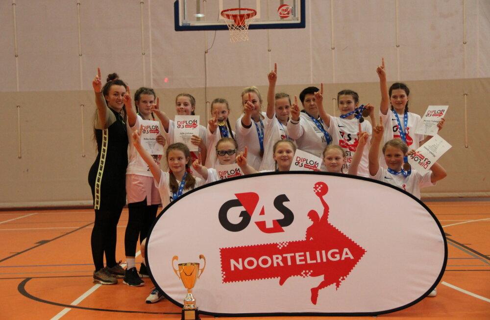 G4S Noorteliiga mini-klassi tütarlaste Eesti meistriks krooniti Tallinna Kalev