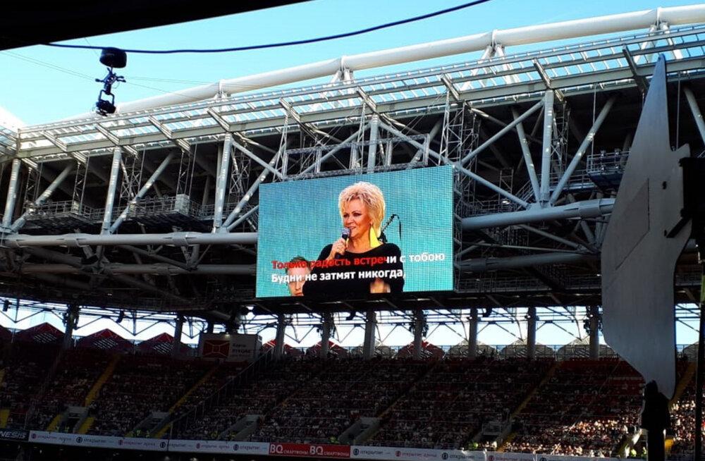 Tõeline superstaar: Anne Veski nautis Moskvas jalgpallitähtedele väärilist menu!