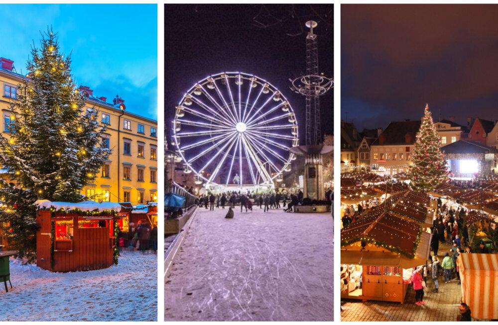 JÕLUTUNNET TEKITAVAD FOTOD | Tallinn vs lähinaabrid: milliseid jõuluturge on tänavu Eesti lähedal võimalik külastada?
