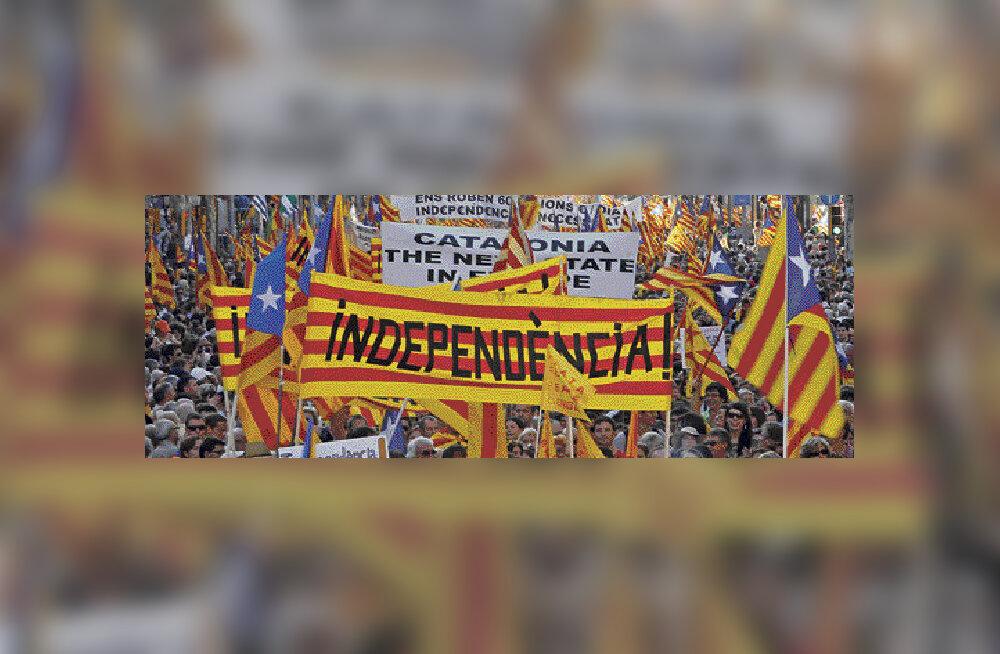 Barcelonas nõudis miljon inimest Kataloonia riiki