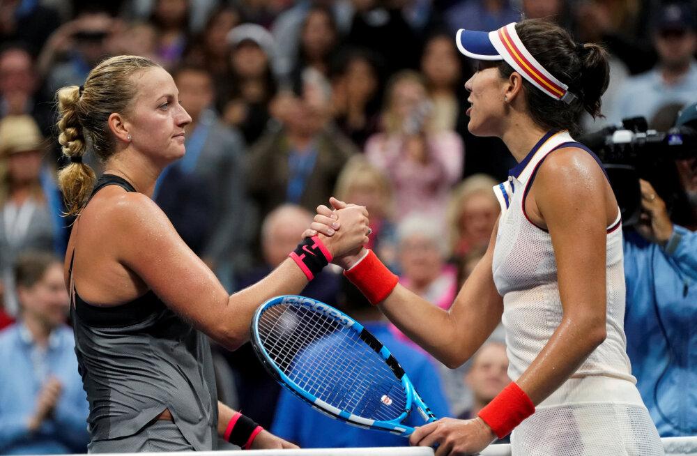 Kaheksa kuud tagasi noarünnaku üle elanud Kvitova pääses US Openil veerandfinaali