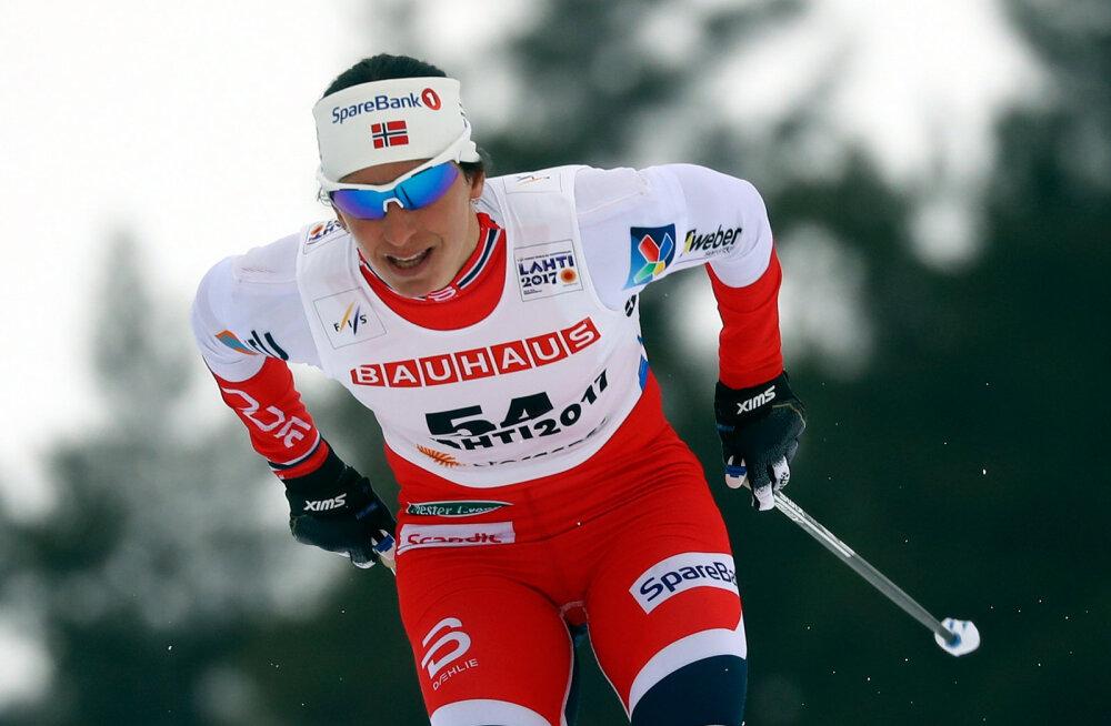 Björgen võitis Lahtis teise kuldmedali, Kalla rikkus Norra kolmikvõidu