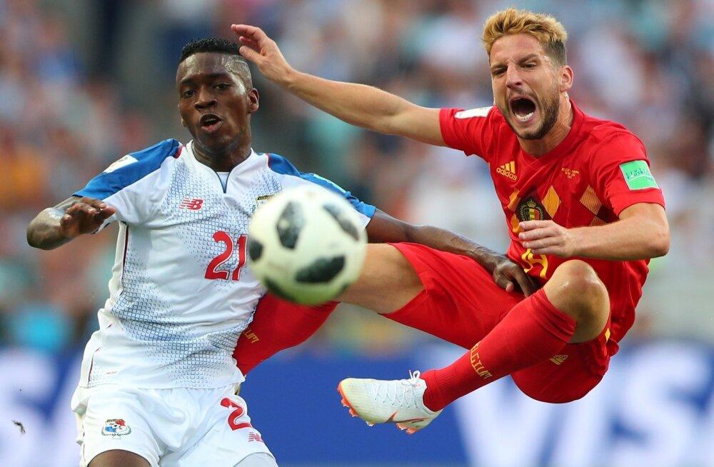 Dries Mertens (paremal) kohtumises Panama vastu.