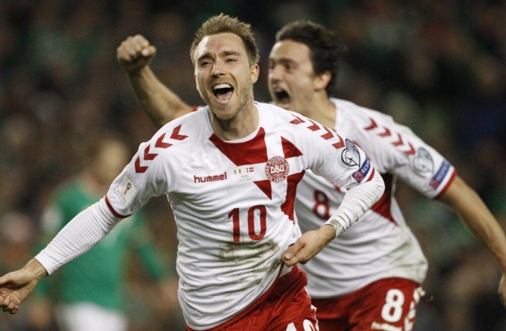 VIDEO | Põhjamaade pidu! Taani purustas võõrsil Iirimaa ning sõidab MM-finaalturniirile