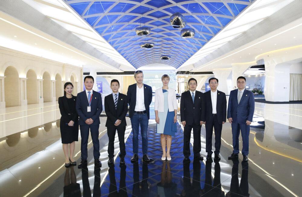 Kersti Kaljulaid kohtus Huawei asepresidendiga, et arutada Hiina-Eesti digikoostööd