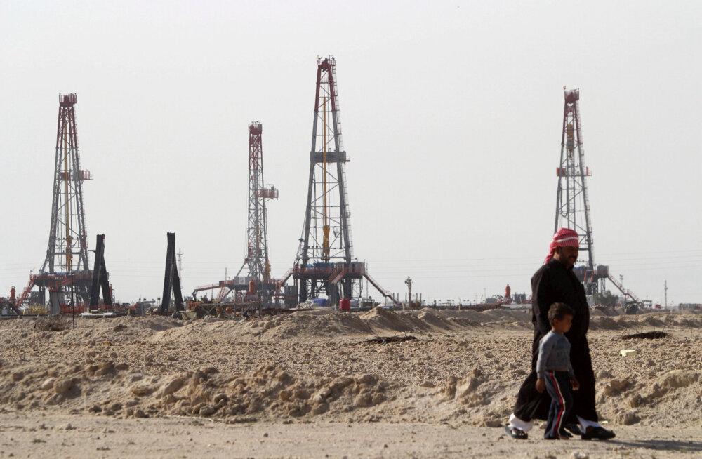 Naftapuurtornid Iraagis.