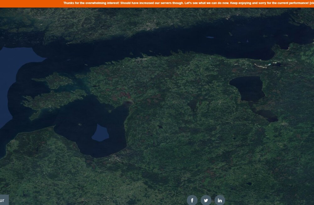 Maailm peopesal: selline on 80 triljonist pikslist koosnev mosaiikpilt pilvitust Maast