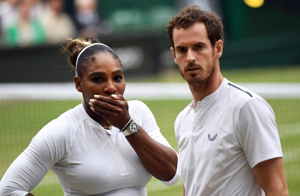 Serena Williams ja Andy Murray.