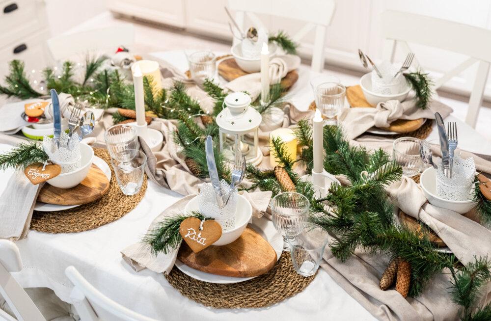 Sisekujundaja nõuanded: kuidas kaunistada jõululauda nii, et isegi jõulupuu selle kõrval kahvatub?