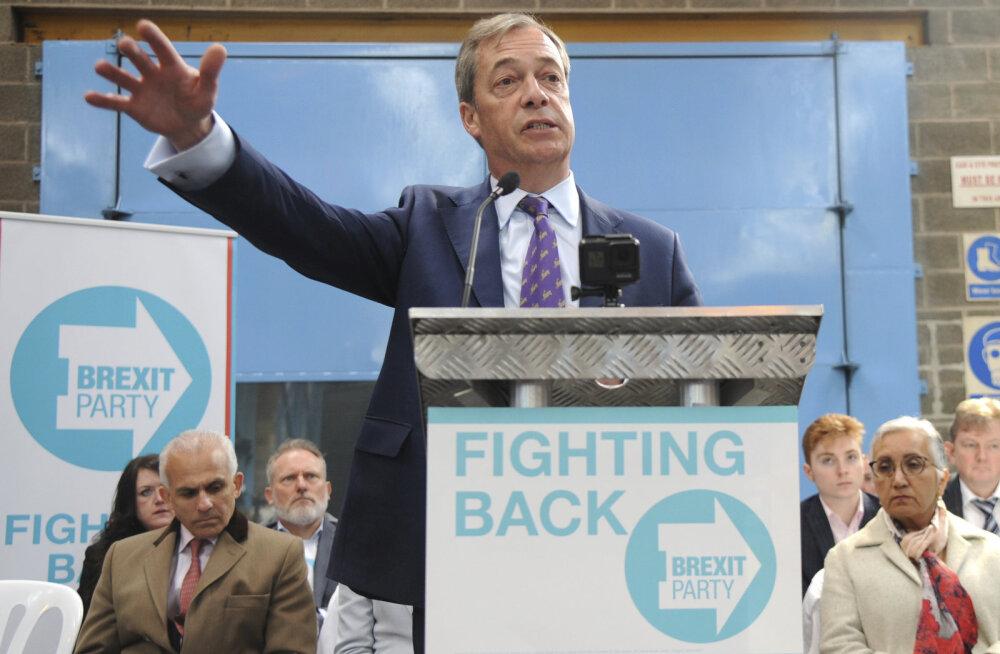 Nigel Farage esitles oma uut Brexiti-parteid, millega läheb europarlamendi valimistele