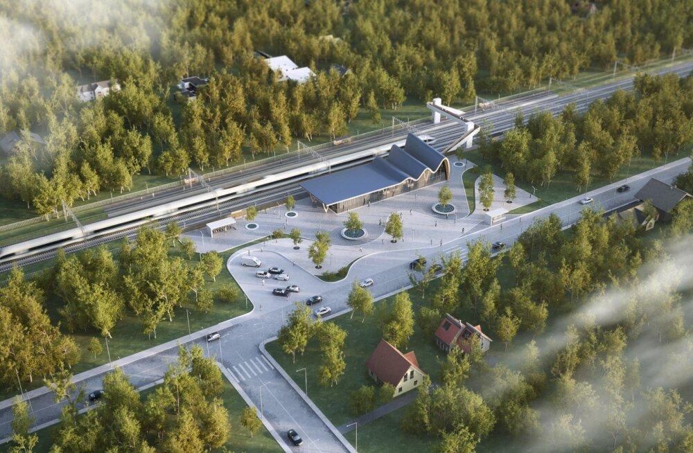 Rail Balticu uued eskiisfotod. Foto illustratiivne