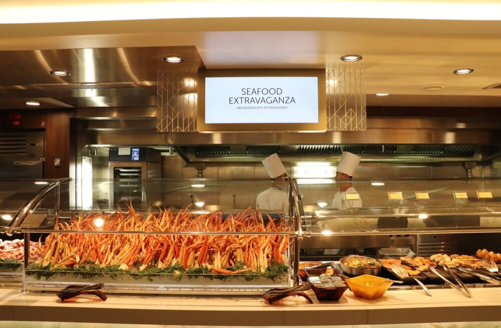 Norwegian Encore'i mereandide buffet