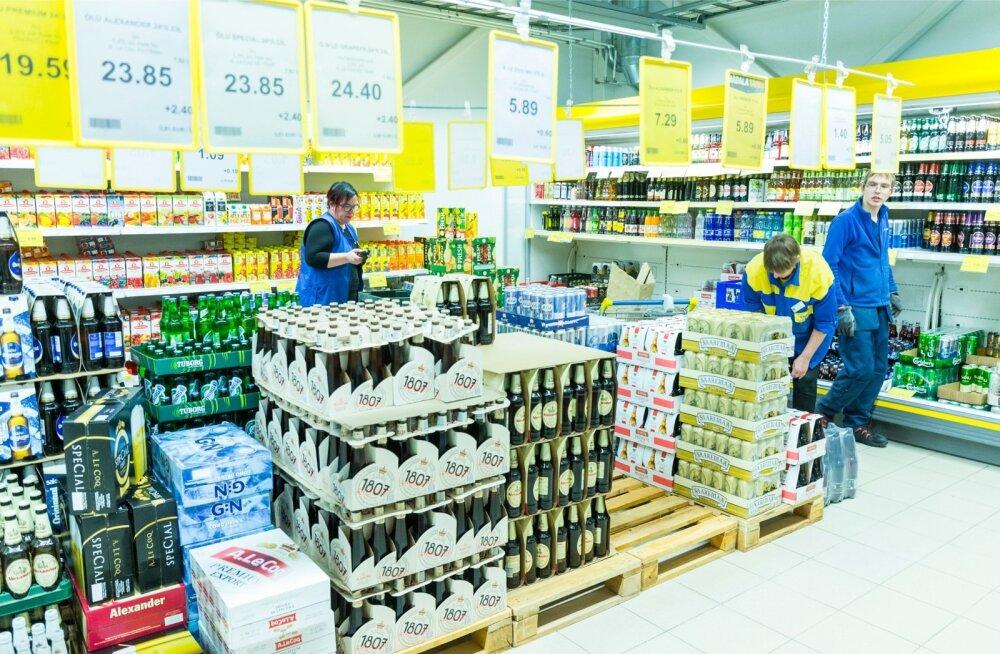 Coopi kauplustes on praegu aktsiisi mõjul hindu langetatud 95% lahjal alkoholil ja 85% kangel alkoholil.