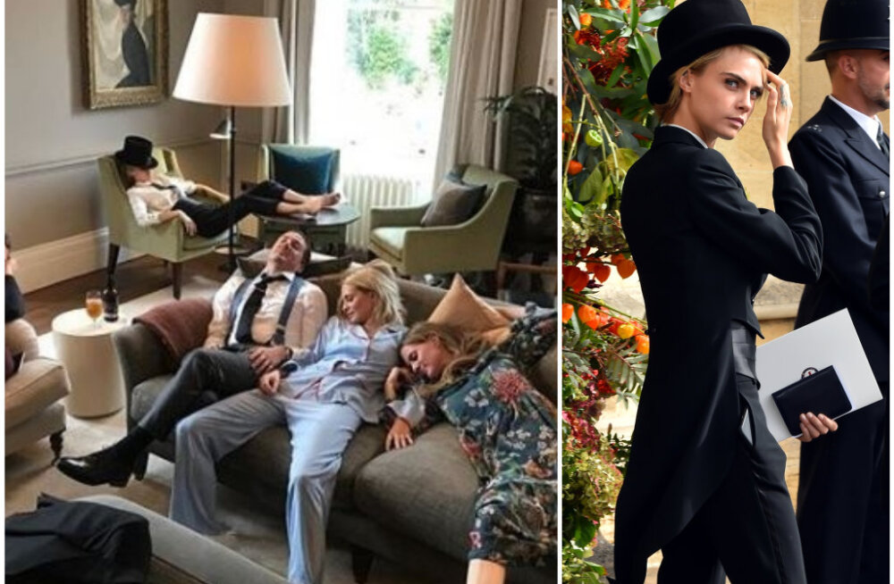 FOTO | Kuninglik pulm oli nii hoogne, et Cara Delevingne ja ta sõbrad vajusid suisa siruli