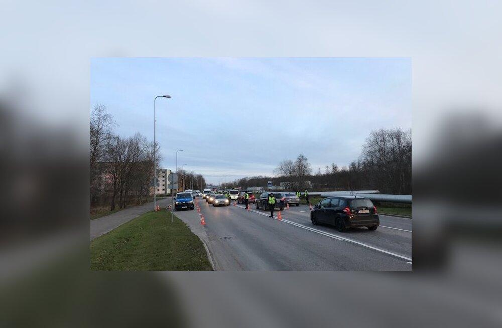 Positiivse lõppakordiga politseireid: Jõhvis olid kõik kontrollitud sõidukijuhid kained