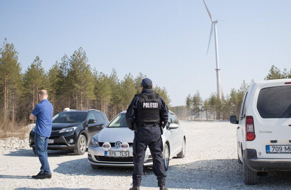 Politseivalve Aidu tuulepargis mullu kevadel