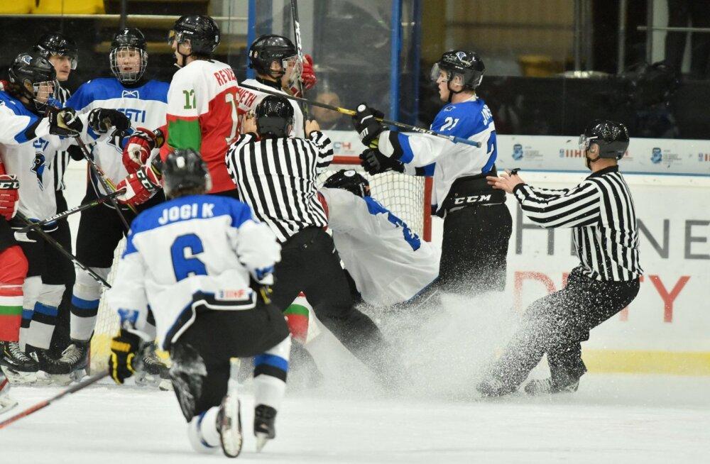 Selgus U20 Eesti jäähokikoondise koosseis kohtumiseks Itaalia vastu