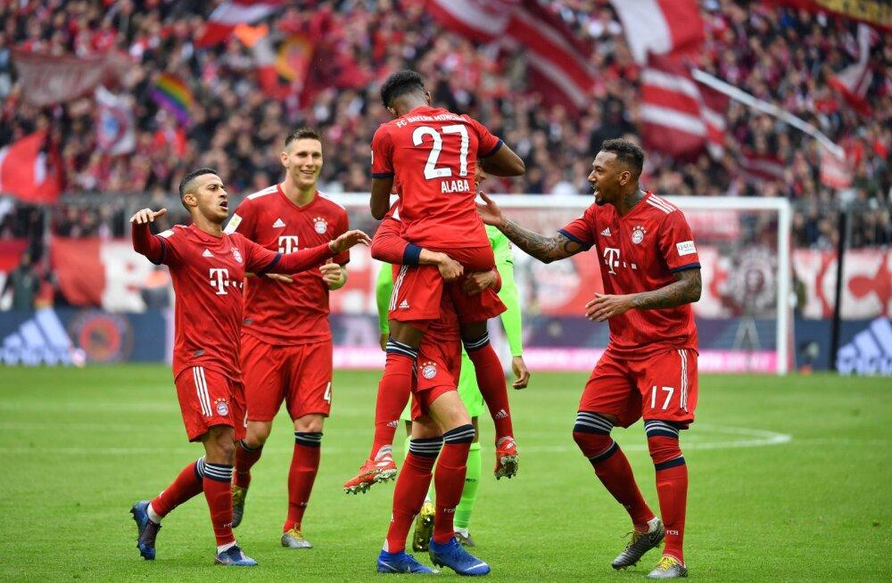 Müncheni Bayern astus sammu lähemale järjekordsele meistritiitlile